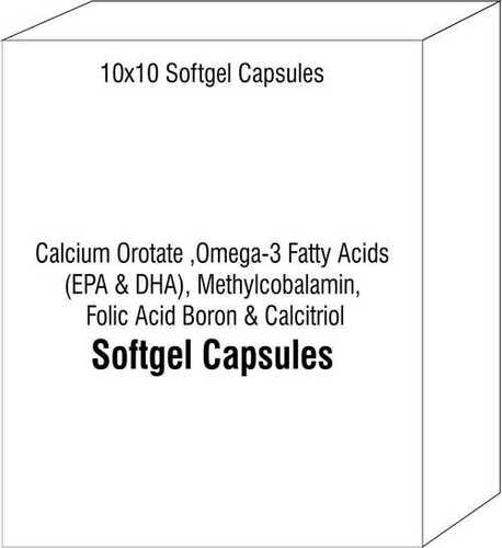 Calcium Orotate Omega-3 Fatty Acids (EPA & DHA) Methylcobalamin Folic Acid Boron and Calcitriol Soft