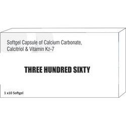 Softgel Capsule of Calcium Carbonate Calcitriol and Vitamin K2-7