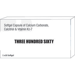 Softgel Capsule of Calcium Carbonate Calcitriol and Vitamin K2-7