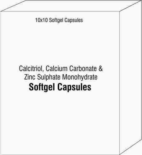 Soft Gel Capsule Of Calcitriol Calcium Carbonate and Zinc Sulphate Monohydrate