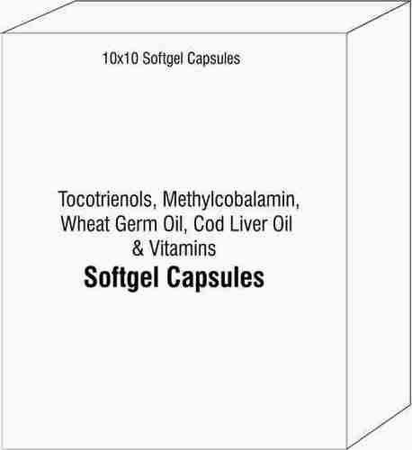 Tocotrienols Methylcobalamin Wheat Germ Oil Cod Liver Oil And Vitamins Softgel Capsules