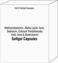 Methylcobalamin Alpha Lipoic Acid Selenium Calcium Pantothenate Folic Acid and Multivitamin Softgel