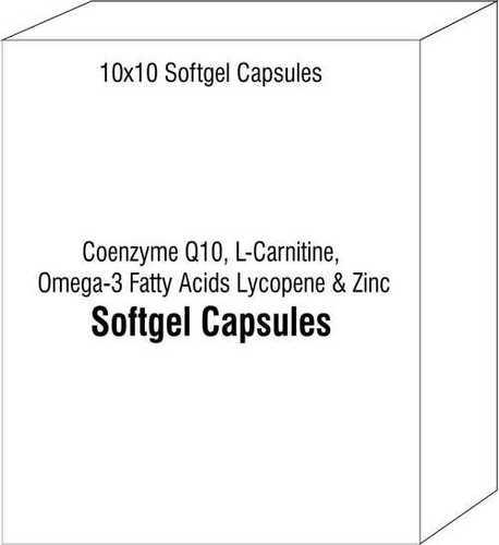 Coenzyme Q10 L-Carnitine Omega-3 Fatty Acids Lycopene and Zinc Softgel Capsules