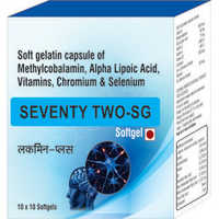 Soft Gelatin Capsule of Methylcobalamin Alpha Lipoic Acid Vitamins Chromium and Selenium
