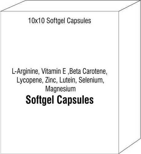 Softgel Capsules of L-Arginine Vitamin E Beta Carotene Lycopene Zinc Lutein Selenium Magnesium