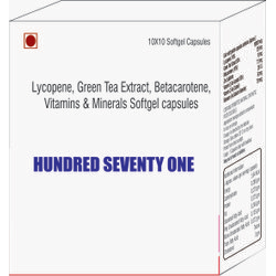 Lycopene Green Tea Extract Betacarotene Vitamins and Minerals Softgel Capsules