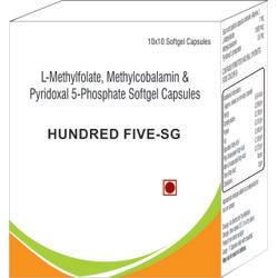 L-Methylfolate Methylcobalamin and Pyridoxal 5-Phosphate Softgel Capsules