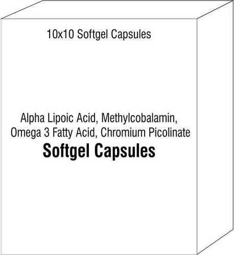 阿尔法Lipoic酸Methylcobalamin Ω 3脂肪酸铬Picolinate Softgel胶囊