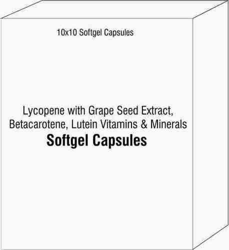 Lycopene with Grape Seed Extract Betacarotene Lutein Vitamins and Minerals Softgel Capsules