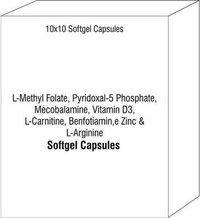 L-Methyl Folate Pyridoxal-5 Phosphate Mecobalamine Vitamin D3 L-Carnitine Benfotiamine Zinc L-Argini