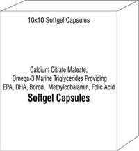 Calcium Citrate Maleate Omega-3 Marine Triglycerides Providing EPA DHA Boron Methylcobalamin Folic