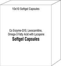 Co Enzyme-Q10 Levocarnitine Omega-3 Fatty Acid with Lycopene Softgel Capsules