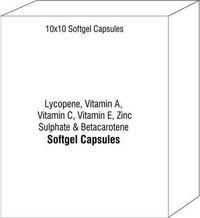 Lycopene Vitamin A Vitamin C Vitamin E Zinc Sulphate and Betacarotene Softgel Capsules