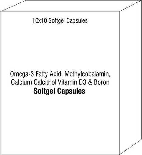 Soft Gelatin Capsule of Omega-3 Fatty Acid Methylcobalamin Calcium Calcitriol Vitamin D3 and Boron