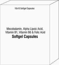 Mecobalamin Alpha Lipoic Acid Vitamin B1 Vitamin B6 and Folic Acid Softgel Capsules