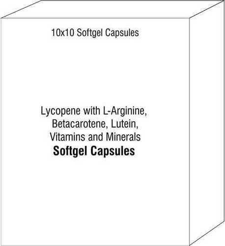 Lycopene with L-Arginine Betacarotene Lutein Vitamins and Minerals Capsules