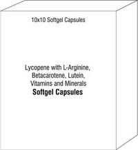 Lycopene with L-Arginine Betacarotene Lutein Vitamins and Minerals Capsules