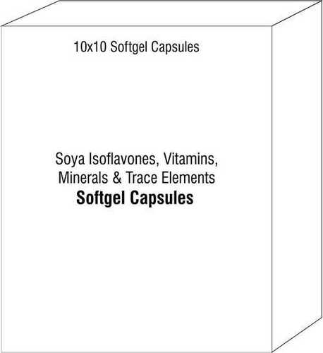 Soya Isoflavones Vitamins Minerals And Trace Elements Softgel Capsules