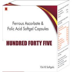 Ferrous Ascorbate and Folic Acid Softgel Capsules
