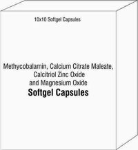 Methycobalamin Calcium Citrate Maleate Calcitriol Zinc Oxide and Magnesium Oxide Softgel Capsules
