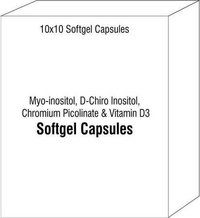 Myo-inositol D-Chiro Inositol Chromium Picolinate and Vitamin D3 Softge