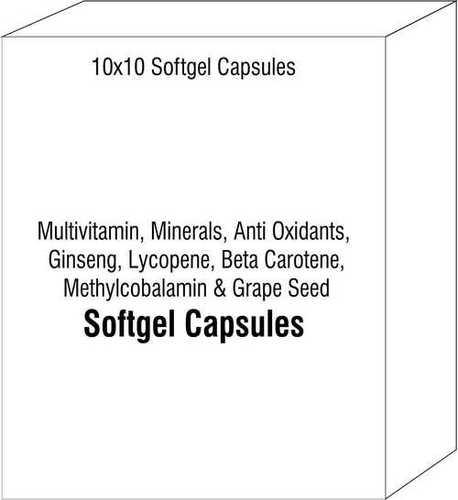 Multivitamin Minerals Anti Oxidants Ginseng Lycopene Beta Carotene Methylcobalamin and Grape Seed