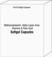 Soft Gelatin Capsules Of Methylcobalamin Alpha Lipoic Acid Vitamins and Folic Acid