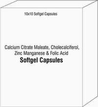 Calcium Citrate Maleate, Cholecalciferol, Zinc Manganese & Folic Acid