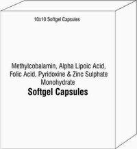 Methylcobalamin Alpha Lipoic Acid Folic Acid Pyridoxine and Zinc Sulphate Monohydrate Softgel Cap