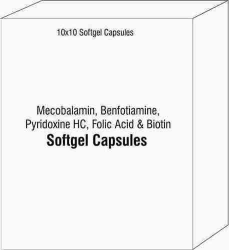Mecobalamin Benfotiamine Pyridoxine HCI Folic Acid and Biotin Softgel Capsules