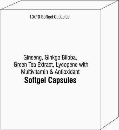 Ginseng Ginkgo Biloba Green Tea Extract Capsules Lycopene with Multivitamin and Antioxidant Soft Gel