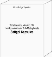 Softgel Capsules of Tocotrienols Vitamin B6 Methylcobalamin and L-Methylfolate