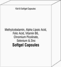 Methylcobalamin Alpha Lipoic Acid Folic Acid Vitamin B6 Chromium Picolinate Selenium and Zinc
