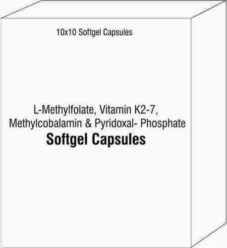 L-Methylfolate Vitamin K2-7 Methylcobalamin and Pyridoxal- Phosphate Softgel Capsules