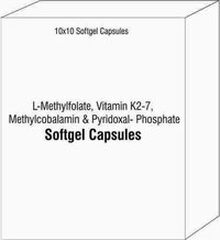 L-Methylfolate Vitamin K2-7 Methylcobalamin and Pyridoxal- Phosphate Softgel Capsules