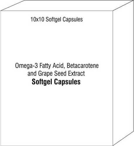 Omega-3 Fatty Acid Betacarotene and Grape Seed Extract Softgel Capsules