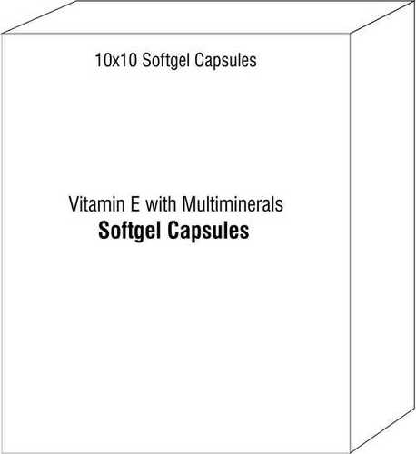 Vitamin E with Multiminerals Soft Gelatin Capsules