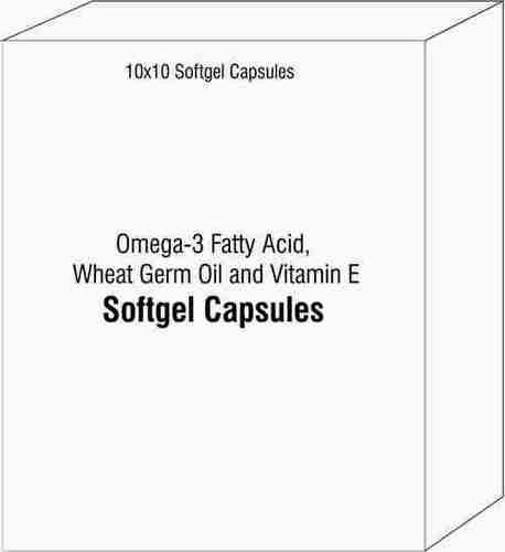 Softgel Capsules of Omega-3 Fatty Acid Wheat Germ Oil and Vitamin E