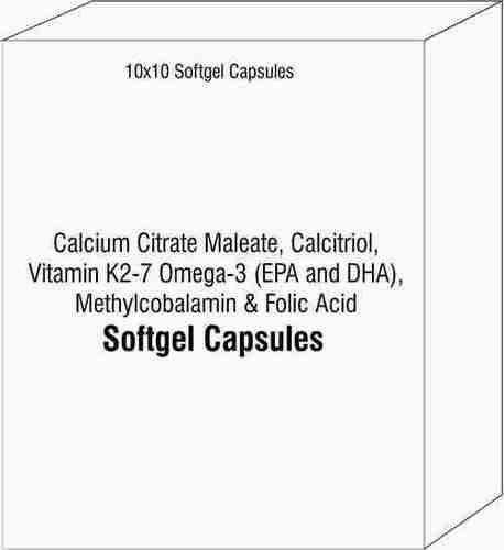 Calcium Citrate Maleate Calcitriol Vitamin K2-7 Omega-3 (EPA and DHA) Methylcobalamin Folic Acid