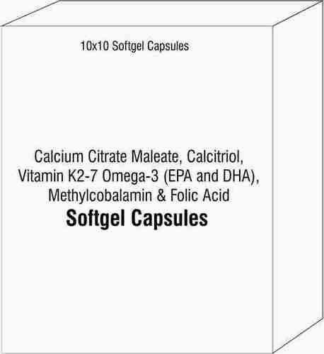 Calcium Citrate Maleate Calcitriol Vitamin K2-7 Omega-3 (EPA and DHA) Methylcobalamin Folic Acid