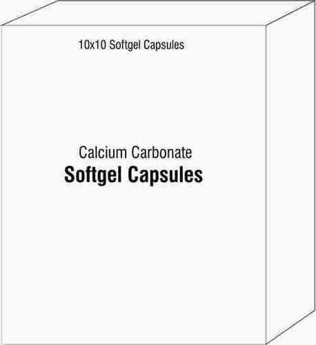 Softgel Capsules of Calcium Carbonate