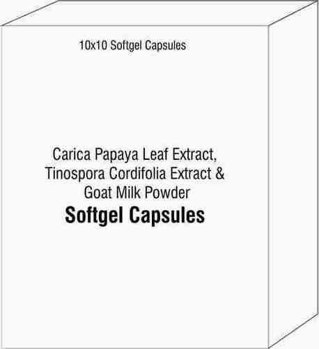 Softgel Capsules of Carica Papaya Leaf Extract Tinospora Cordifolia Extract Goat Milk Powder