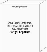 Softgel Capsules of Carica Papaya Leaf Extract Tinospora Cordifolia Extract Goat Milk Powder
