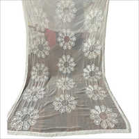 White Embroidery Dupatta