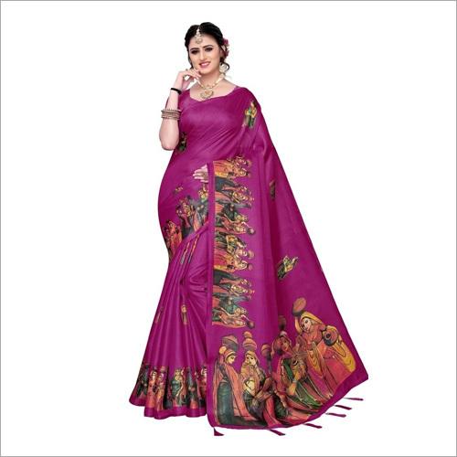 Silk Digital Printed Saree