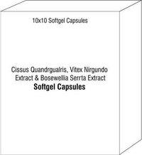 Softgel Capsule Of Cissus Quandrgualris Vitex Nirgundo Extract Bosewellia Serrta Extract