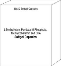 L-Methylfolate Pyridoxal-5 Phosphate Methylcobalamin and DHA Soft Gelatin Capsules