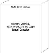 Softgel Capsules of Vitamin C Vitamin E Beta-Carotene Zinc and Copper