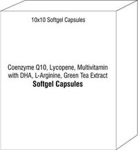 Softgel Capsule of Coenzyme Q10 Lycopene Multivitamin with DHA L-Arginine Green Tea Extract