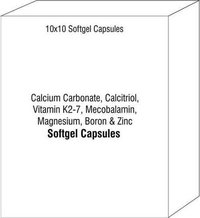 Calcium Carbonate Calcitriol Vitamin K2-7 Mecobalamin Magnesium Boron and Zinc Capsules